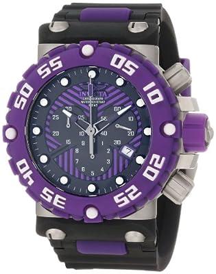Invicta Men's 10042 Subaqua Nitro Diver Chronograph Black and Purple Dial Watch