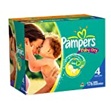Pampers Baby Dry Diapers Economy Plus Pack, Size 4, 176 Count ~ Pampers