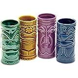 Ceramic Tiki Mug Party Pack - Set of 4