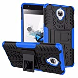 Micomy Kick Stand Spider Hard Dual Rugged Armor Hybrid Bumper Back Case Cover For One Plus Three -Blue