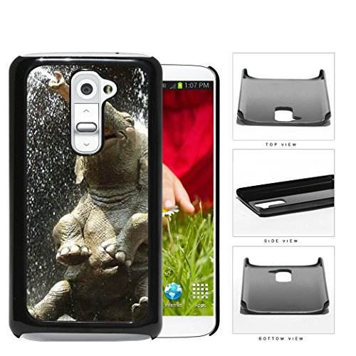 Cute Baby Elephant Water Shower Hard Plastic Snap On Cell Phone Case Lg G2