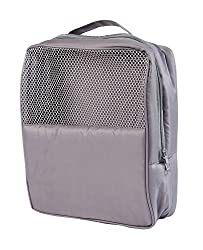My Gift Booth Nylon Gym-Shoe Bag, Grey