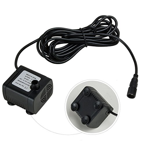 Uxcell 5w Outdoor Solar Fountain Pump Waterfall For Pool