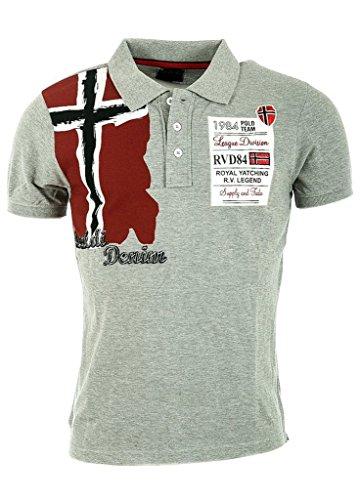 RIVALDI Royal Yatching-Polo da uomo, colore: grigio grigio S