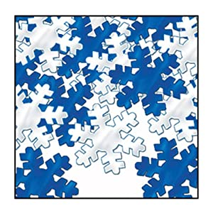 Fanci-Fetti Snowflakes (blue & silver) Party Accessory  (1 count) (1 Oz/Pkg)