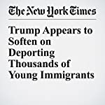 Trump Appears to Soften on Deporting Thousands of Young Immigrants | Amy Chozick