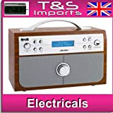 Bush DAB/FM Stereo Radio with Alarm Clock - Wood Effect RRP £49.99