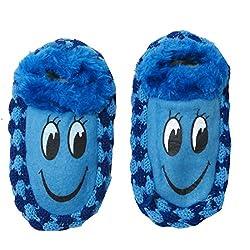 Neska Moda Premium Super Soft Cotton Unisex Kids Winter Booties-14 CM Length For Age Group 2-5 Years-Blue,Black