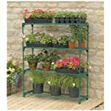 "Gardman R691 4-Tier Greenhouse Staging, 35"" Long x 11"" Wide x 42"" High (Discontinued by Manufacturer)"