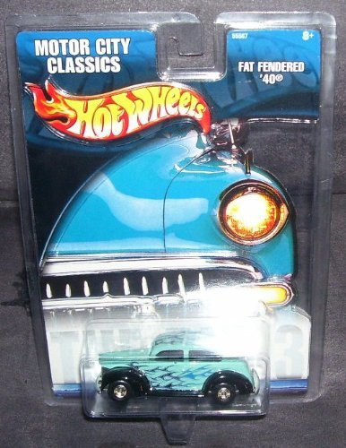 Hot Wheels Motor City Classics Fat Fendered '40 Diecast Car in plastic packaging