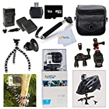 GoPro Hero3: White Edition - (131/ 40m Waterproof Housing) Adventure Package with with Bike Seat Bracket and Helmet Mount for GoPro.