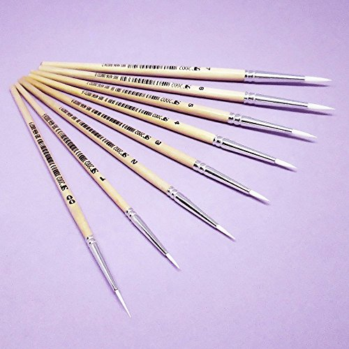 Kits-Inventive-Hobby-Detail-To-Medium-Pointed-Round-Paintbrushes-Set-Of-8-Synthetic-Bristles-For-Small-Art-Projects-Or-Multipurpose-Decorating