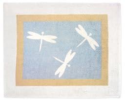 Blue Dragonfly Dreams Accent Floor Rug by Sweet Jojo Designs