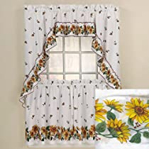 Sunny Day Complete Kitchen Curtain Tier And Swag Set by Chf Industries