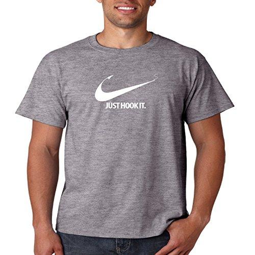 Juiceclouds | Fishing T Shirt Just Hook It Mens Tee