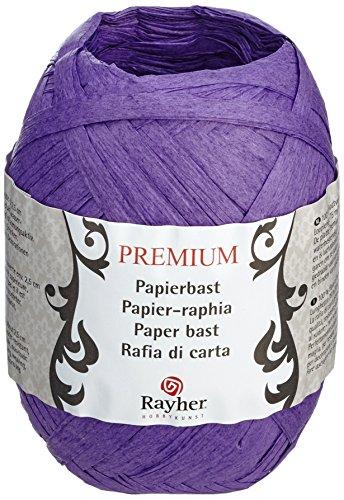 Rayher 52002314 - Rollo de cinta de rafia (75 m), color morado