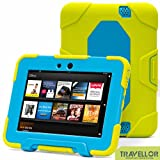 "New Hot Item High Quality Kindle Fire HD 7""Cover Case Slim Fit Silicone Plastic Dual Protective Back Cover Kid Proof Case Standing Case for Amazon Kindle Fire HD 7 Inch(will Only Fit Kindle Fire HD 7""Previous Generation)-multiple Color Options (Light Green/Light Blue)"