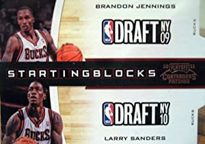 Buy 2010-11 Playoff Contenders Patches Starting Blocks #6 Brandon Jennings - Larry Sanders by Panini