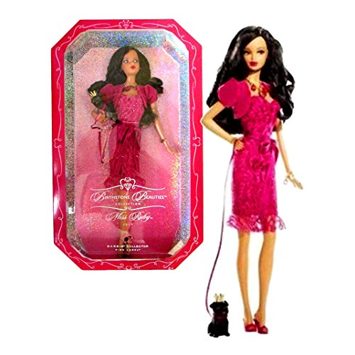 Mattel Year 2007 Barbie Pink Label Birthstone Beauties Collection Series 12 Inch Doll - Miss Ruby Ju