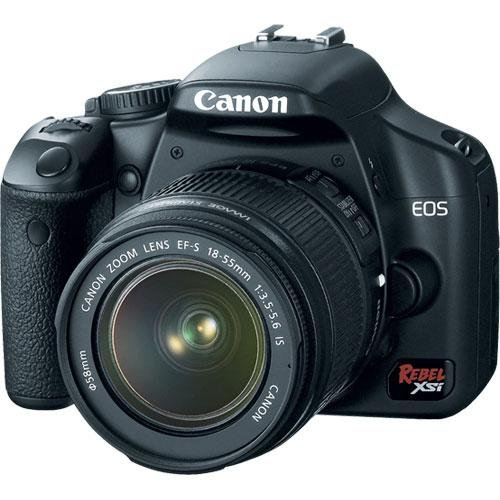 Canon Digital Rebel XSi 12.2 MP Digital SLR Camera with EF-S 18-55mm f/3.5-5.6 IS Lens - Black