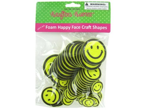Foam happy face craft shapes - Pack of 48