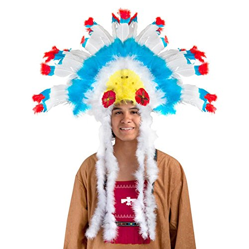 Adult Girl's Indian Feather Head Dress For Costume