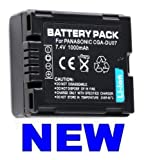 Rechargeable Lithium Ion Battery Pack (CGA-DU07) for Panasonic NV-GS120, NV-GS120K, NV-GS15, NV-GS200, NV-GS200K, NV-GS22, NV-GS30, NV-GS30B, NV-GS40, NV-GS400 Digital Camcorder Video Camera