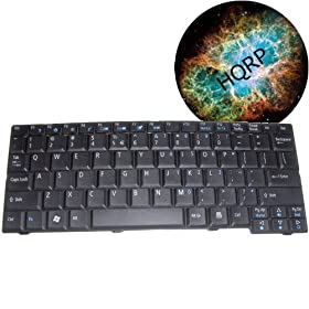 HQRP Replacement Keyboard for Acer Aspire One ZG5 Netbook / Subnotebook plus HQRP Mousepad