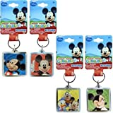 Bulk Buys Disney Mickey Large Lucite Foil Keychain 4 Styles - Case of 72