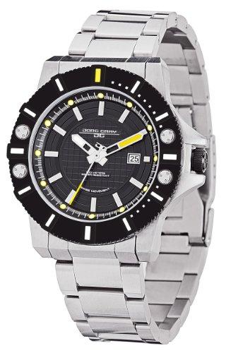 Jorg Gray JG9500-22 - Reloj analógico de cuarzo para hombre, correa de acero inoxidable color plateado