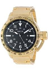 "Breda Men's 1639-gold ""Sean"" Gold-Tone Metal Oversized Bracelet Watch"