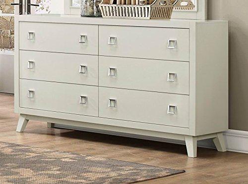 Modern White Shuttered Panel Bedroom Furniture (Dresser)