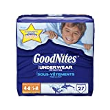 Huggies GoodNites Underwear, Boys, Small/Medium, 27 Count