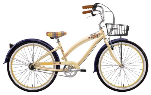 Nirve Women's Paul Frank Art School 3-Speed Co-Branded Bike (Cream, 16-Inch Frame - 26-Inch Wheels)