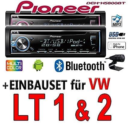 VW-lT pioneer dEH-x5800BT-cD/mP3/uSB avec kit de montage