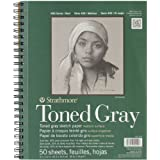 """Strathmore Spiral Toned Sketch Book 9""""X12""""-Gray 50 Sheets"""