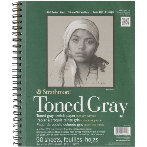strathmore-str-412-109-50-sheet-toned-gray-sketch-pad-9-by-12
