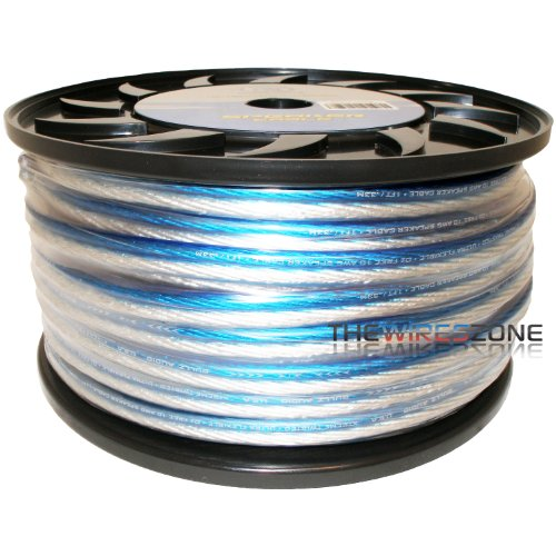 Bullz Audio Bps10.150Pb Blue & Silver 150 Feet 10 Gauge Speaker Wire For Home/Car Audio
