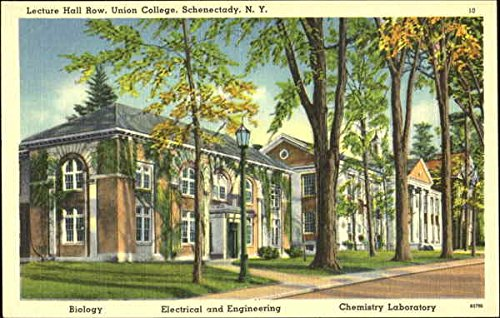Lecture Hall Row, Union College Schenectady, Ny Original Vintage Postcard