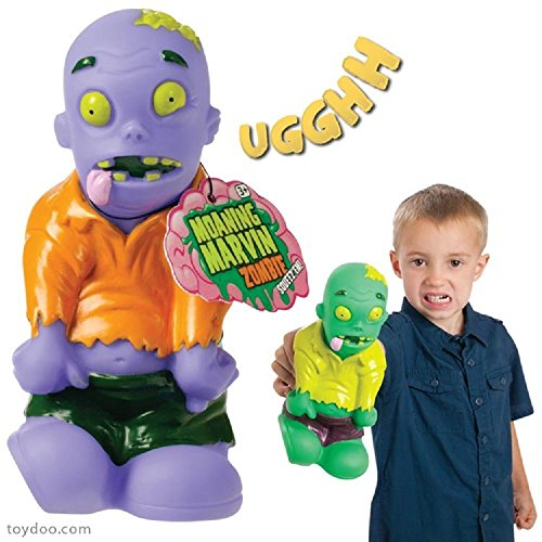 Moaning Marvin Zombie Squeeze Monster Doll-Green