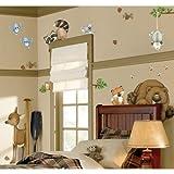 In The Woods Wildlife Animal Stickers Wall Decals Children Bedroom Decor