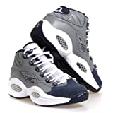 Reebok Men s Question Mid Basketball Shoe Flat Grey/Athletic Navy/White 10 D(M) US