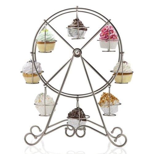 Godinger Godinger Ferris Wheel 8 pc. Cupcake Holder, Silver, All Other Materials
