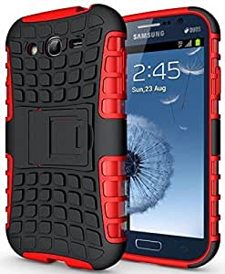 Dashmesh Shopping Hybrid case for Samsung SM-G7106 Galaxy Grand 2, Shock Proof Protective Rugged Armor Super Hybrid Heavy Duty Back Case Cover for Samsung SM-G7106 Galaxy Grand 2 - HOT RED Color