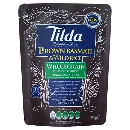 Tilda Steamed Basmati Whole Grain & Wild Rice - 250g (Pack of 6) (Tilda Basmati Rice Legendary Rice compare prices)
