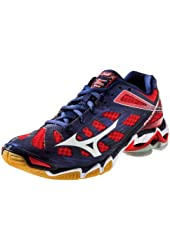 Mizuno Men's Wave Lightning RX3 Volleyball Shoes - Navy & Red