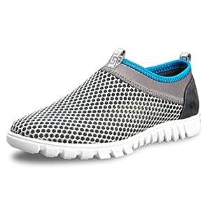 Adi Men's Breathable Contest Shoes,Walk,Beach Aqua,Outdoor,Water,Rainy,Exercise,Drive,Athletic Sneakers EU45 Grey