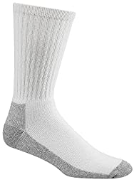 Wigwam Men\'s At Work 3-Pack Socks, White Large (Mens Shoe Size 9-12)