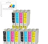 Premier Ink T1285 / E1285 - 12 Compatible Printer Ink Cartridges For Epson Stylus Office Bx305F, 305Fw, Epson Stylus S22, Sx125, Sx130, Sx230, Sx235W, Sx420W, Sx425W, Sx430W, Sx435W, Sx438W, Sx440W, Sx445W,