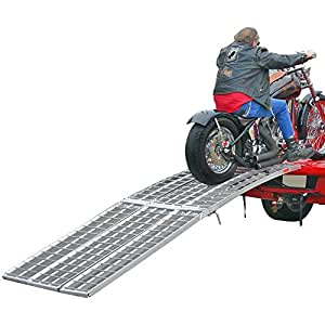 "120"" Arched 3-Ramp Aluminum Motorcycle Loading System"